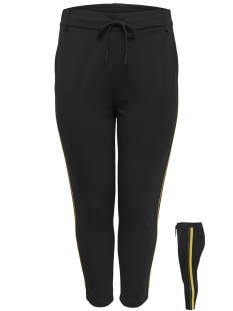 Only Carmakoma Broek CARGOLDTRASH PANEL PANT 15172227 Black/LEMON CURRY