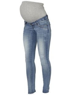 Mama-Licious Positie broek MLSANTIAGO LIGHT BLUE SLIM JEANS A. 20009458 Light Blue Denim