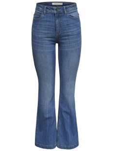 jdyflora flared high m blue dnm 15167994 jacqueline de yong jeans medium blue denim