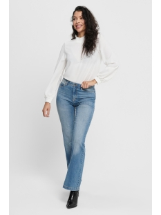 jdyflora flared high m blue dnm 15167994 jacqueline de yong jeans medium blue denim