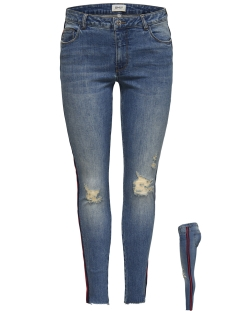 onlcarmen reg sk an tape dnm jeans 15173559 only jeans medium blue denim