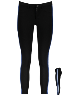 Only Broek onlEVIE NEW SPORT STRIPES ANKLE PANT 15176196 Black/WHITE/BLUE