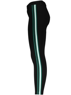 onlevie new sport stripes ankle pant 15176196 only broek black/white/green