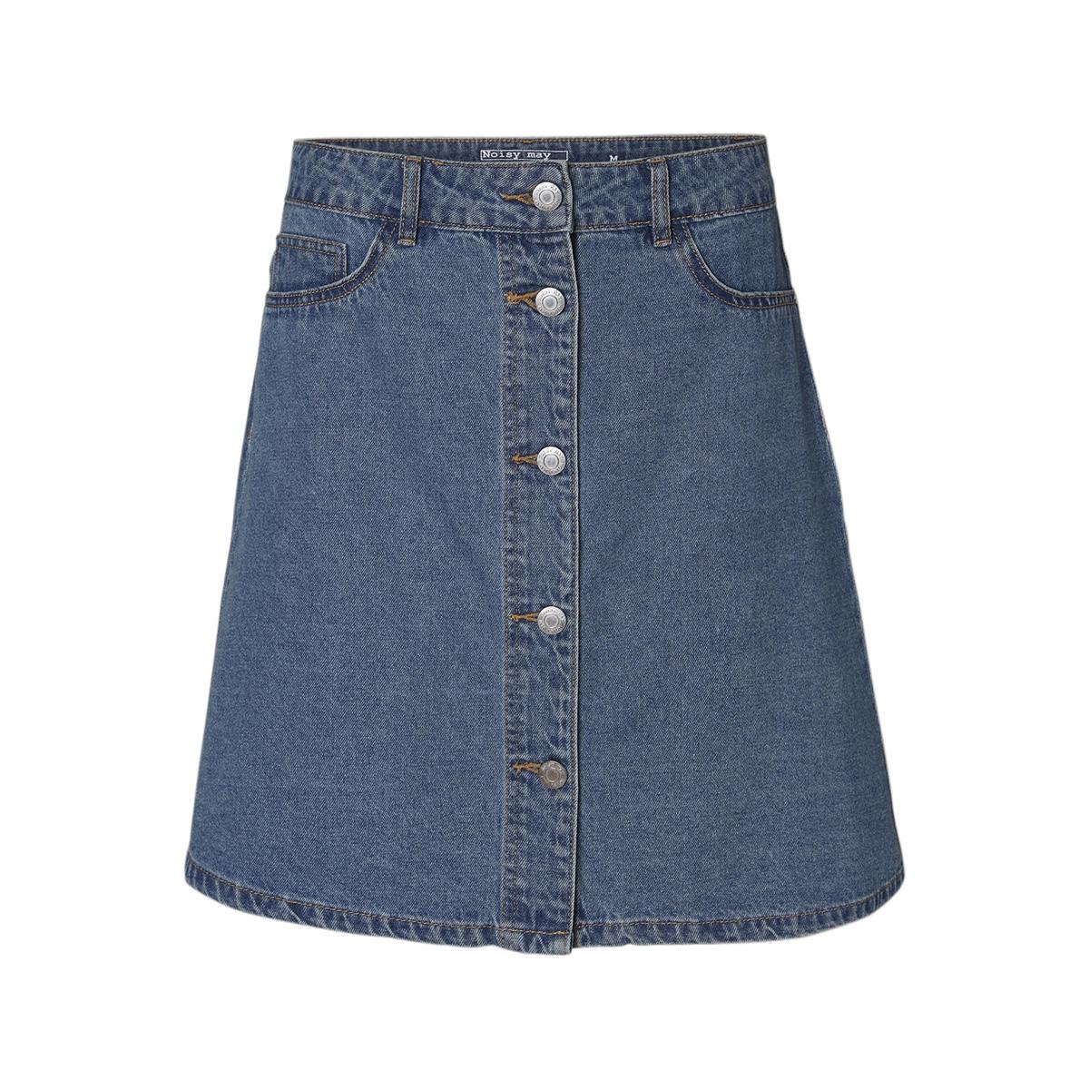 nmsunny shortdnm skater skirt gu123 27000431 noisy may rok medium blue denim