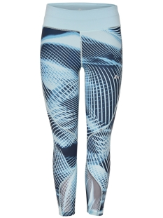 Only Play Sport broek onpEMILIA AOP 7/8 TRAINING TIGHTS 15166290 Sea Angel/ W BLUE NIG