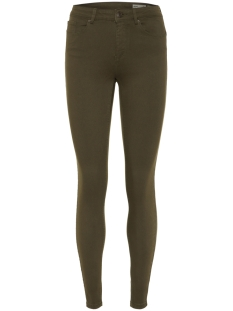Vero Moda Broek VMHOT SEVEN MR SLIM PUSH UP PANTS 10210798 Ivy Green