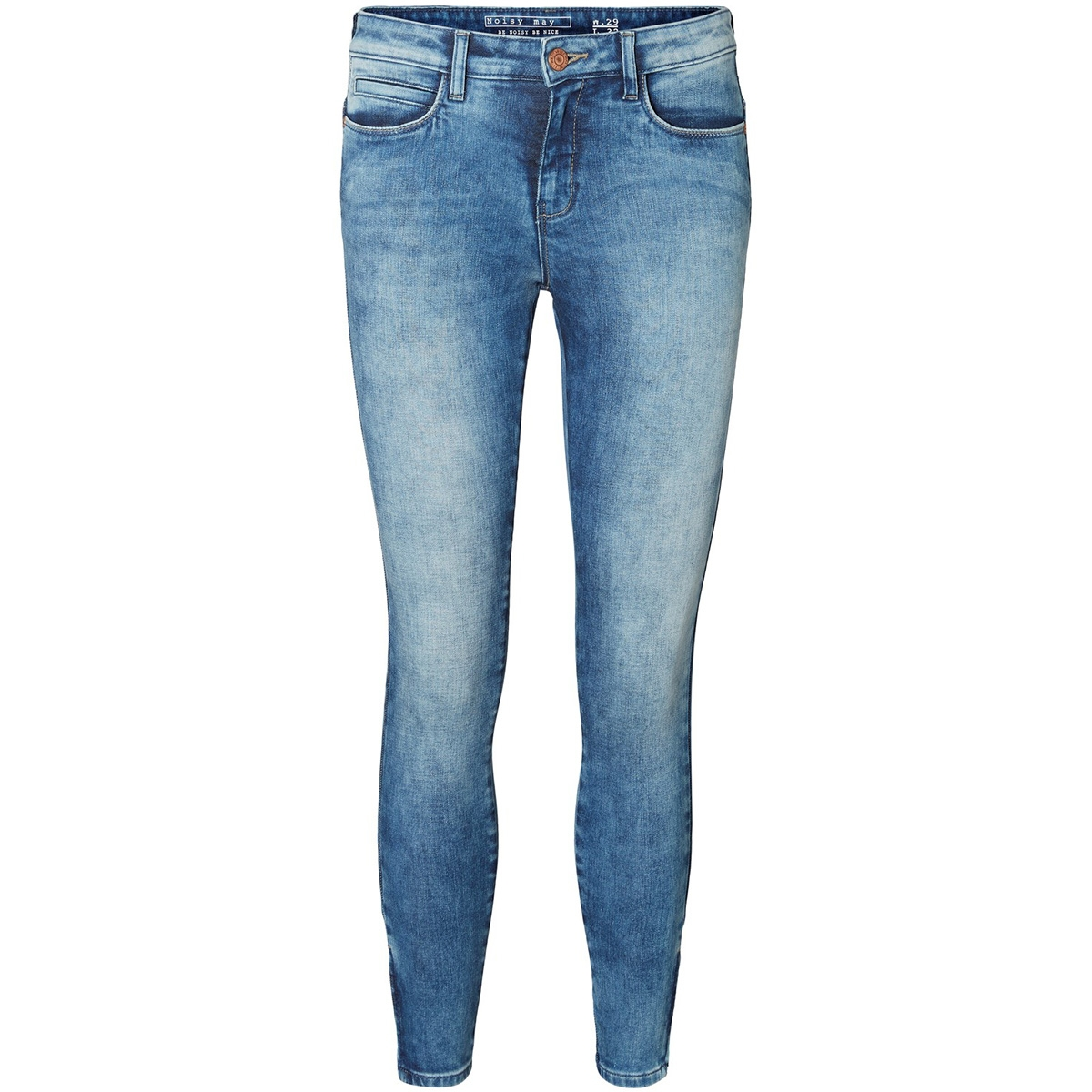 nmkimmy nw ankle zip jeans az005mb noos 27003671 noisy may jeans medium blue denim