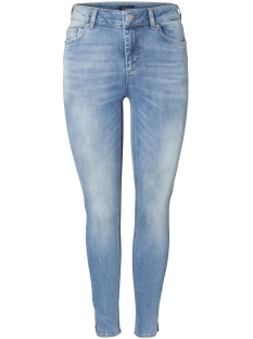 Pieces Jeans PCDELLY MW CROP SLIT SK LB108-BA/NOOS 17093999 Light Blue Denim