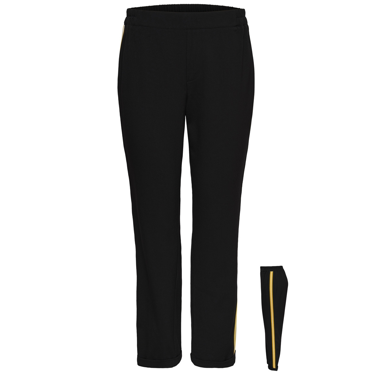 jdyiza solid ank pant wvn noos 15171805 jacqueline de yong broek black/cloud dancer
