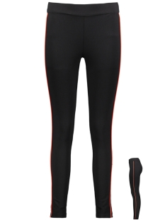 Vero Moda Legging VMSTORM HR PIPING LEGGING 10212385 Black/FIERY RED