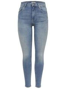 Only Jeans onlBLUSH MID SK ANK RAW JEA REA1467 15162363 Light Blue Denim
