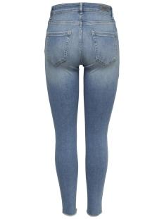 onlblush mid sk ank raw jea rea1467 15162363 only jeans light blue denim