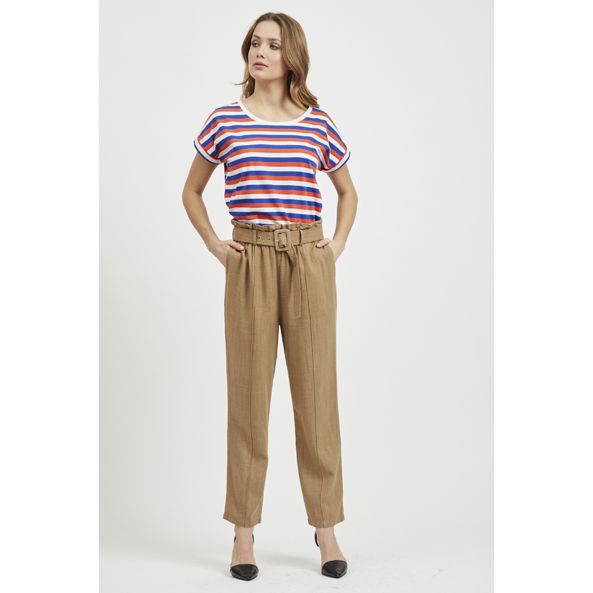 vilinnan hw pants 14052550 vila broek dusty camel