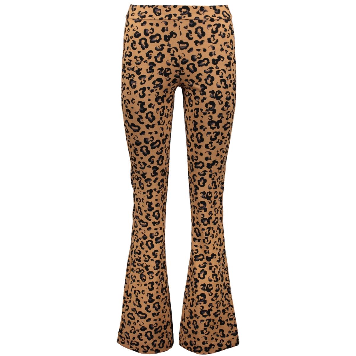 online winkel goedkoopste prijs sneakers voor goedkoop Vero moda VMKAMMA NW FLARED JERSEY PRINT PANT 10221559 Indian Tan/BLACK LEO