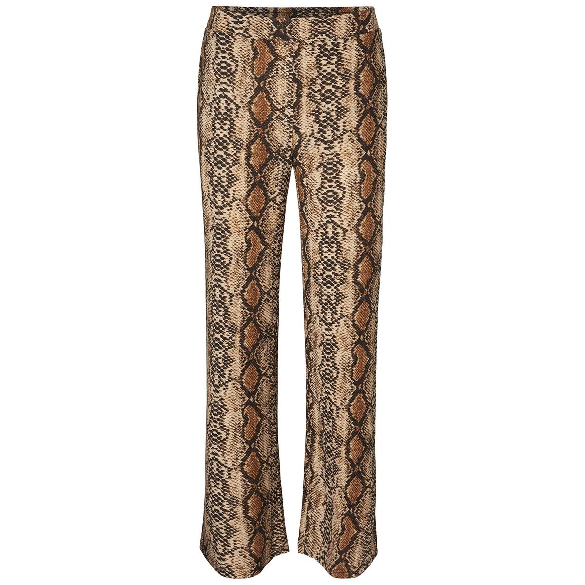 nmsally snake nw loose pant x4 27008005 noisy may broek black/brown color