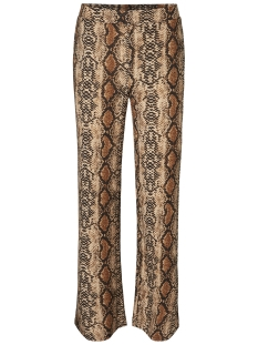 Noisy may Broek NMSALLY SNAKE NW LOOSE PANT X4 27008005 Black/BROWN COLOR