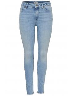 Only Jeans onlBLUSH MID SK ANK RAW JNS REA306 15164319 Light Blue Denim