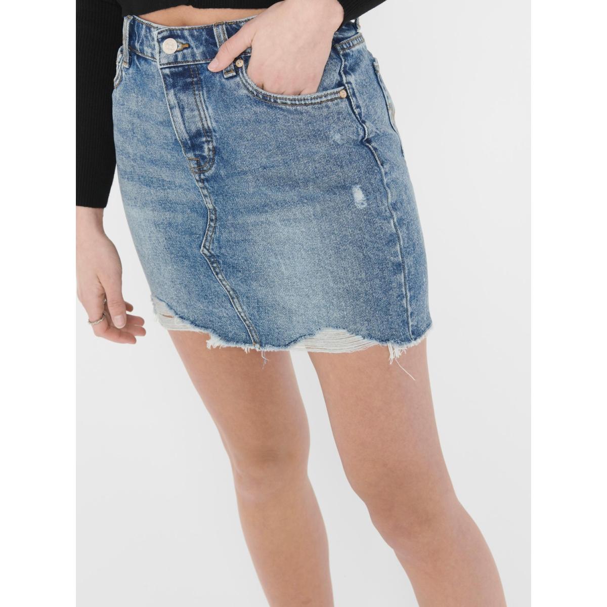 onlsky reg dnm skirt bb pim992 noos 15170554 only rok light blue denim