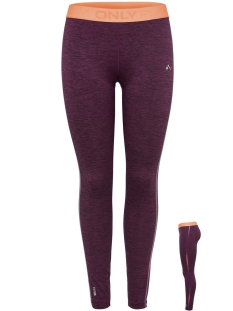 Only Play Sport broek ONPCALEXIA TRAINING TIGHTS 15166377 Fig/MELANGE W.