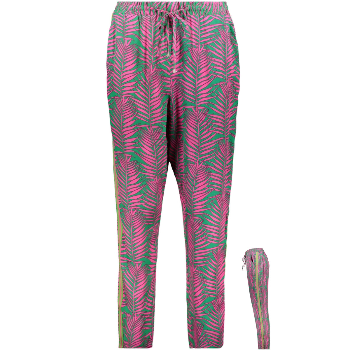 viscose trouser 0319 0511 smith & soul broek 5569 green pink