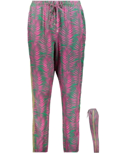 Smith & Soul Broek VISCOSE TROUSER 0319 0511 5569 GREEN PINK