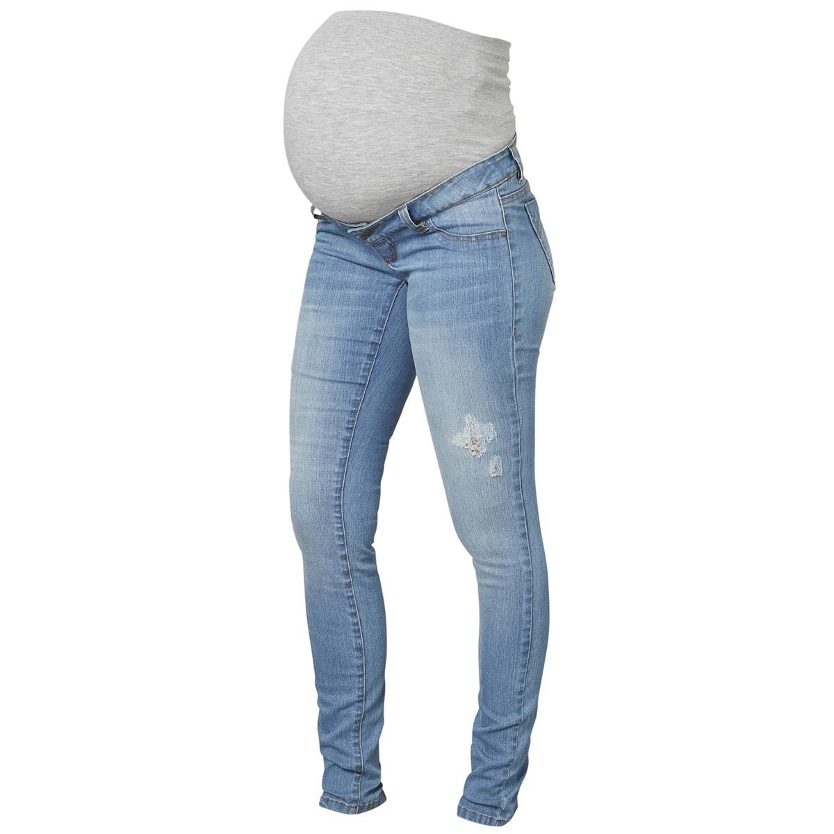 Extreem mljulia slim light blue washed jean 20009641 mama-licious positie #NQ94