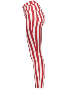 onlblush mid ank color striped dnm 15189302 only jeans white denim/ red