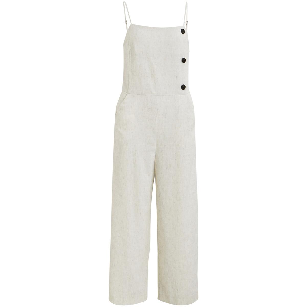 vicelia cropped jumpsuit/des 14052059 vila jumpsuit natural melange