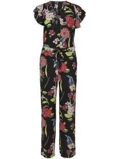 Only Jumpsuit ONLELLA S/S JUMPSUIT WVN 15176399 Black/FLOWERS OF