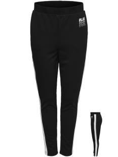 Only Play Sport broek ONPHERMOSA UNI SWEAT PANTS 15170234 Black/W. WHITE