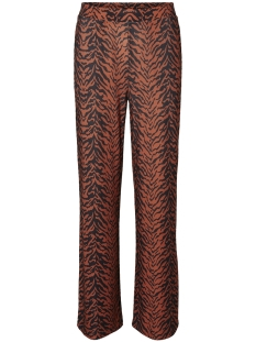 Noisy may Broek NMSALLY SNAKE NW LOOSE PANT X4 27008005 Black/AUBURN/BLACK