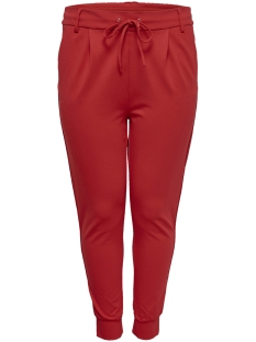 Only Carmakoma Broek CARGOLDTRASH RIB PANT SS19 15175610 High Risk Red/AS SAMPLE