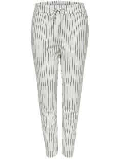Only Broek ONLPOPTRASH EASY RUSH STRIPE PNT NO 15176615 Cloud Dancer/BLACK