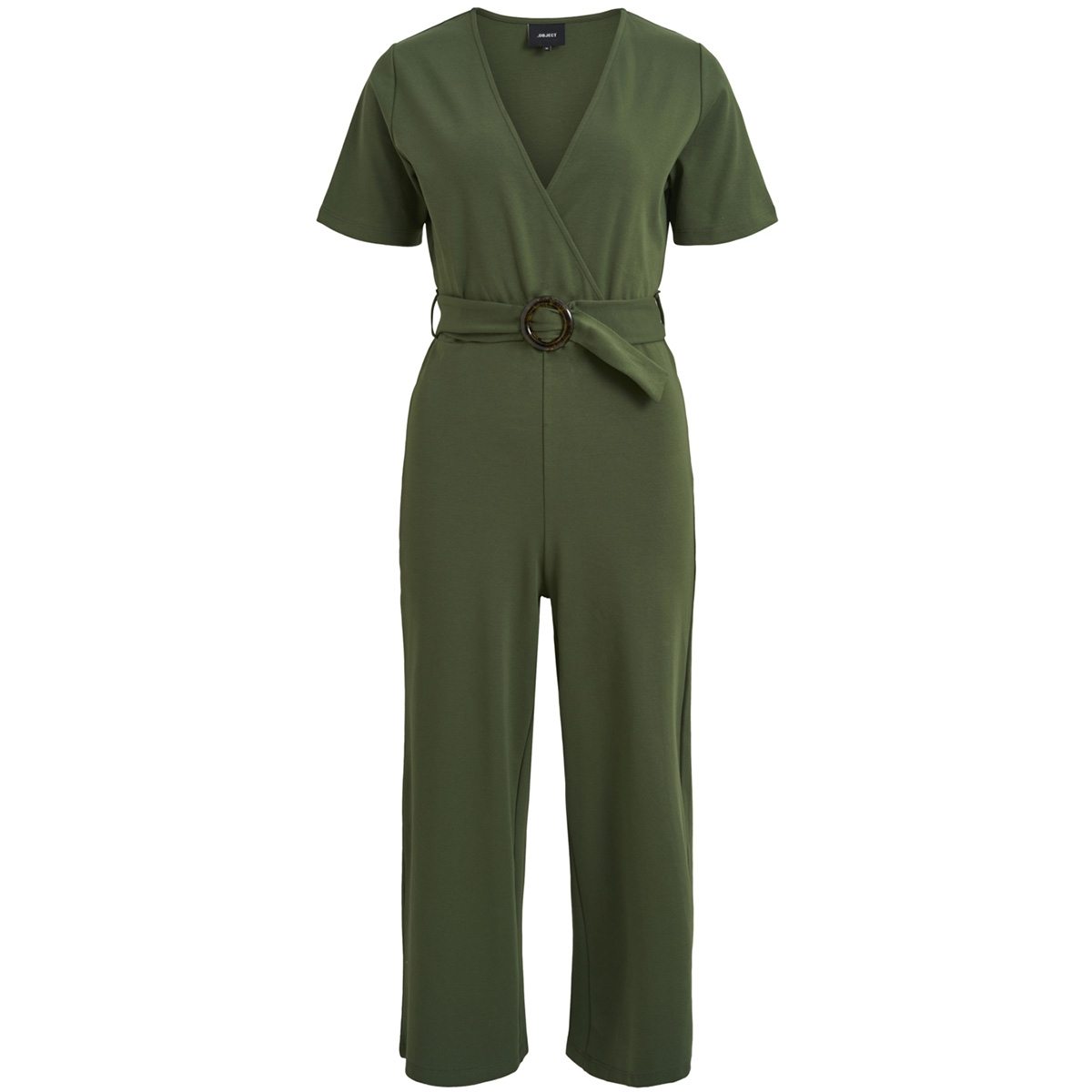 objfolke s/s jumpsuit a sp 23030663 object jumpsuit black forest