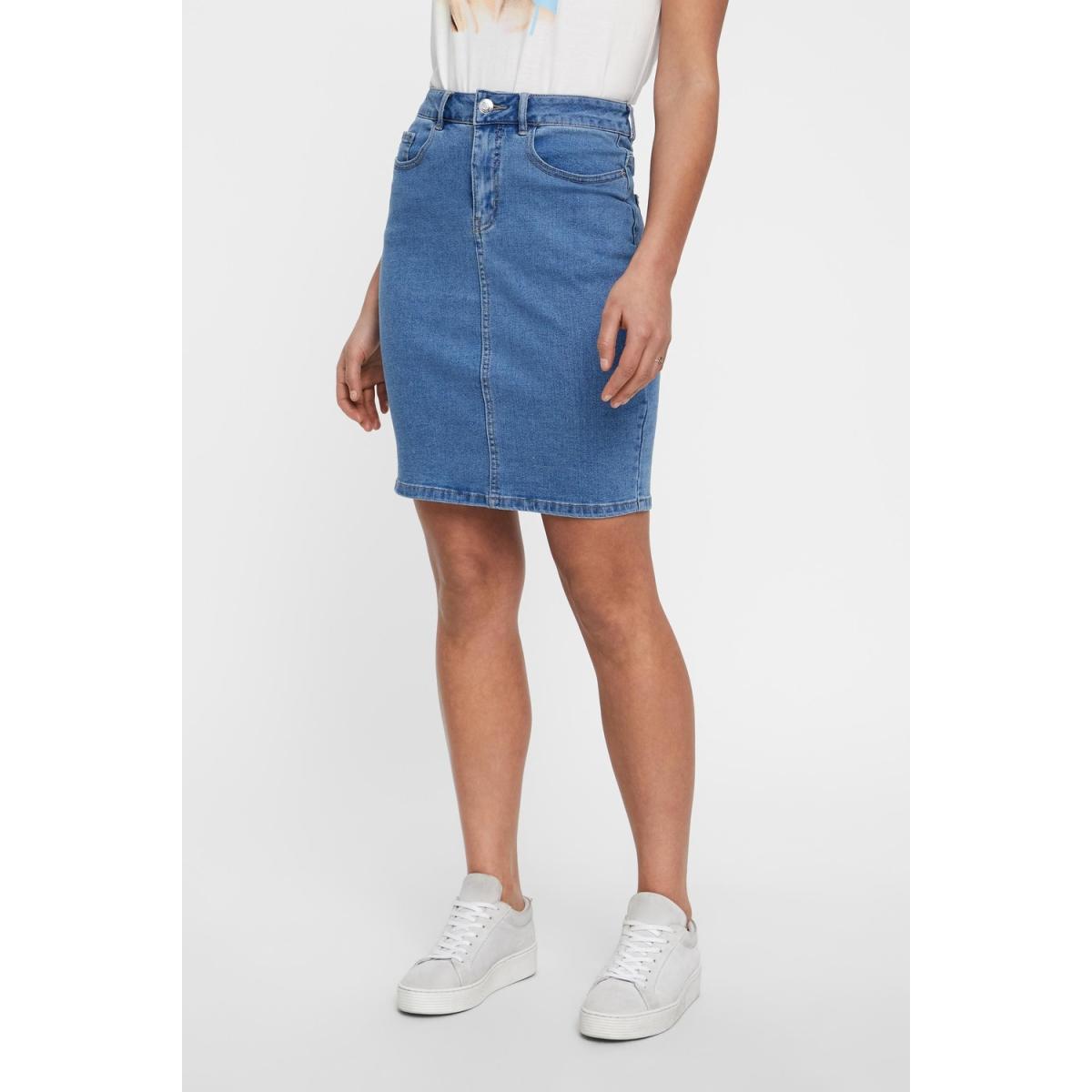 vmhot nine hw dnm pencil skirt mix noos 10193076 vero moda rok light blue denim