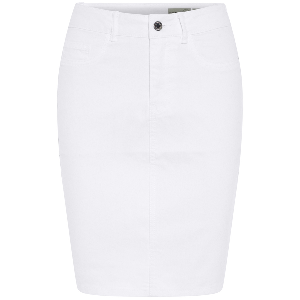 vmhot nine hw dnm pencil skirt noos 10193076 vero moda rok bright white