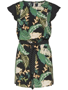 Only Jumpsuit ONLLIMA S/S PLAYSUIT WVN 15176676 Black/DISCO JUNGLE