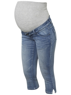 Mama-Licious Positie broek MLGOLDEN SLIM CAPRI A 20009801 Light Blue Denim
