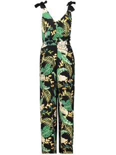 Only Jumpsuit ONLLIMA TIE STRAP JUMPSUIT 15176471 Black/DISCO JUNGLE