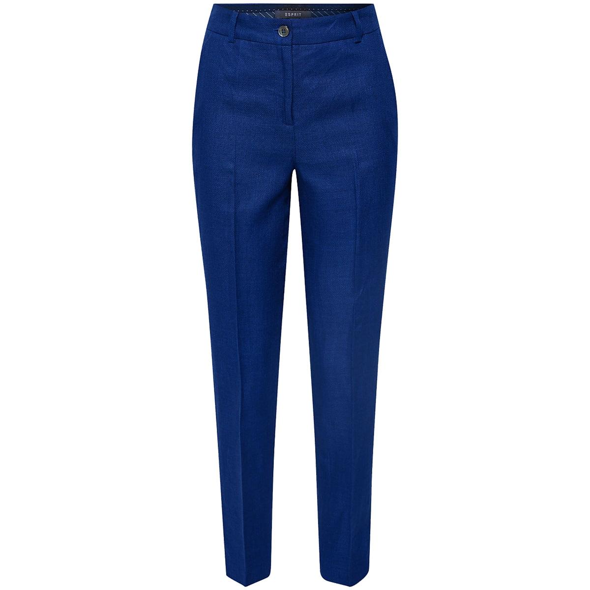 linnen broek met hoge taille 059eo1b002 esprit collection broek e415