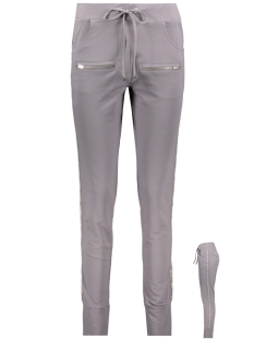 sirin sporty trouser with zippers 192 zoso broek grey