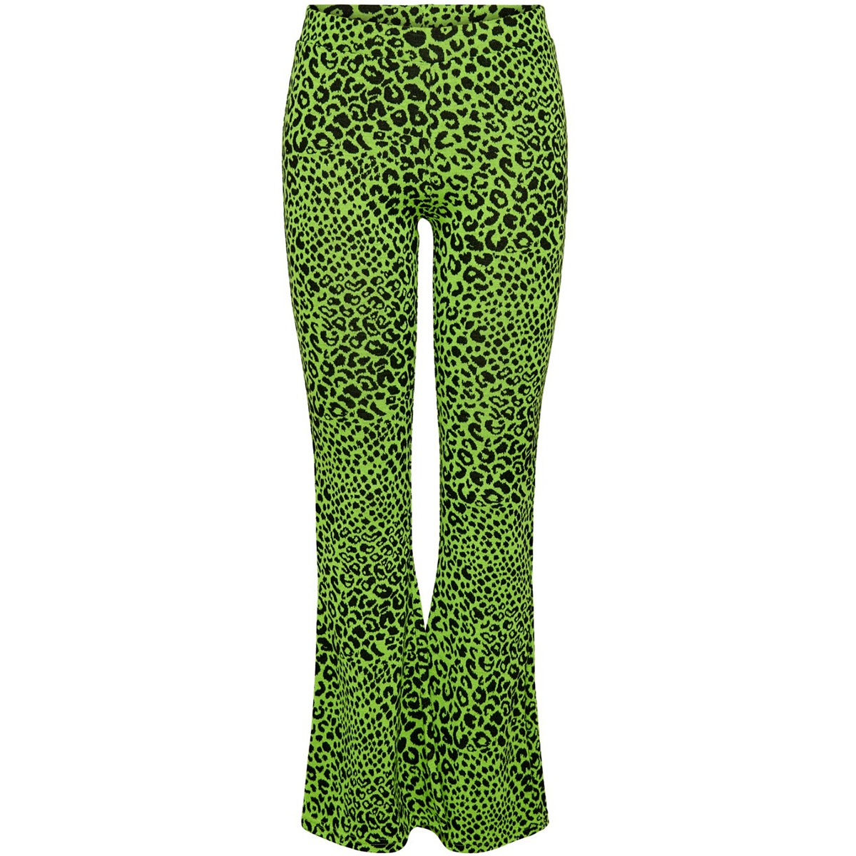 onlnete flared pants cs jrs 15194037 only broek neon yellow/leo