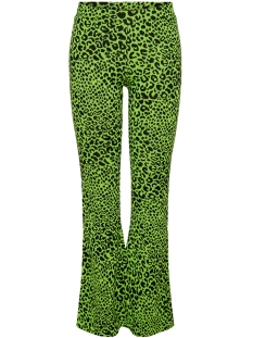 Only Broek ONLNETE FLARED PANTS CS JRS 15194037 Neon Yellow/LEO