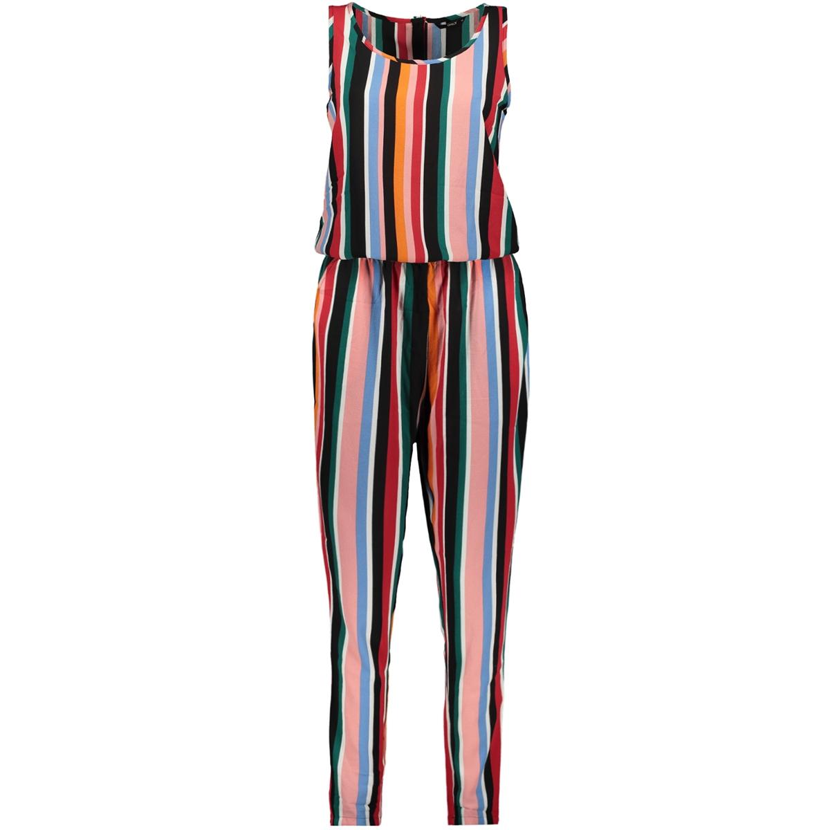 onlnova lux aop jumpsuit 7 cash wvn 15183344 only jumpsuit cloud dancer/cash stripes