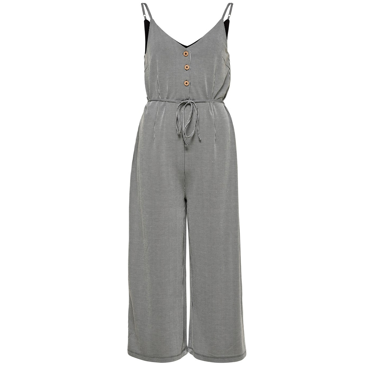 onlshirley s/l jumpsuit jrs 15180182 only jumpsuit black/cloud dancer
