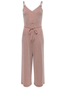 Only Jumpsuit ONLSHIRLEY S/L JUMPSUIT JRS 15180182 Ketchup/CLOUD DANCER