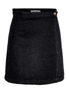 Jacqueline de Yong Rok JDYALLY WRAP SKIRT DNM 15179993 Black Denim