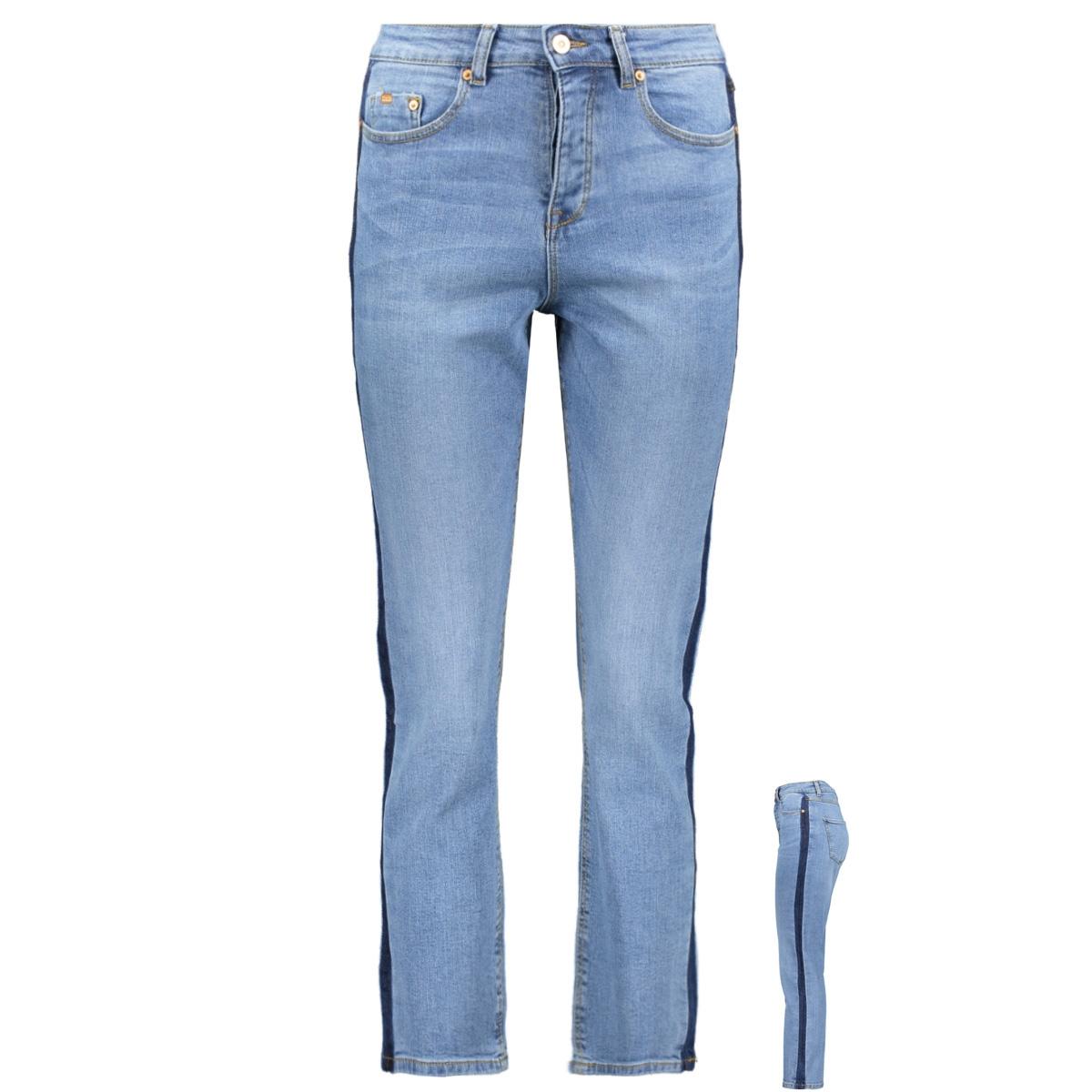 jdystephanie straight high ankl  lb 15180010 jacqueline de yong jeans light blue denim