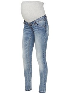 Mama-Licious Positie broek MLFALLY SLIM ANKLE BLUE DIRTY WASH 20009972 Medium Blue Denim