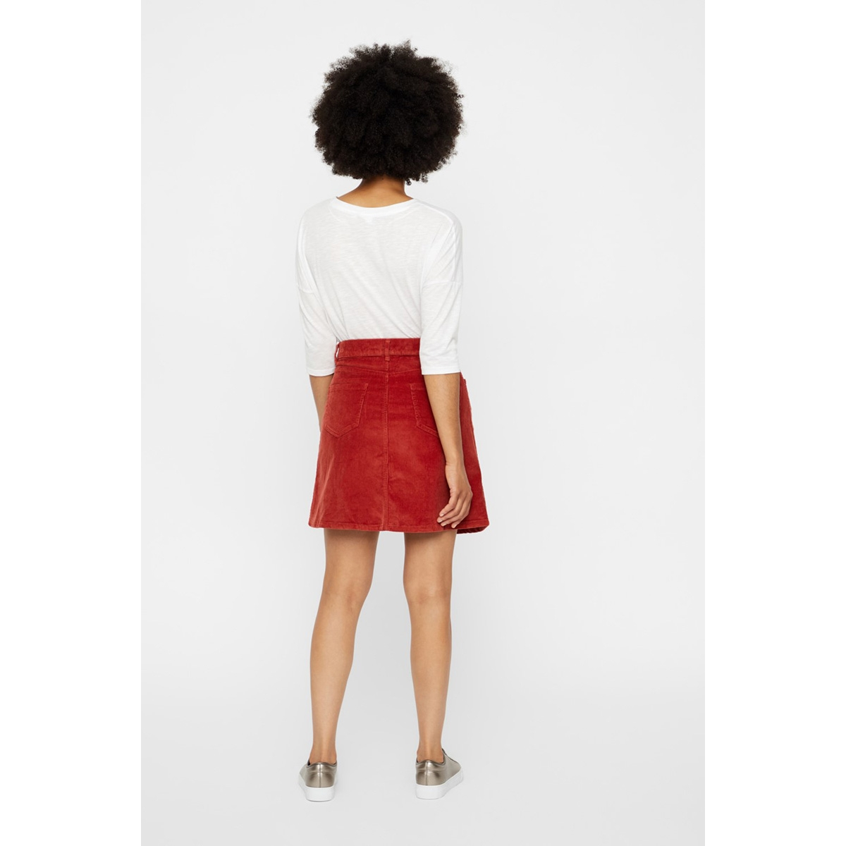 nmsunny short corduroy skirt noos 27008506 noisy may rok tandori spice